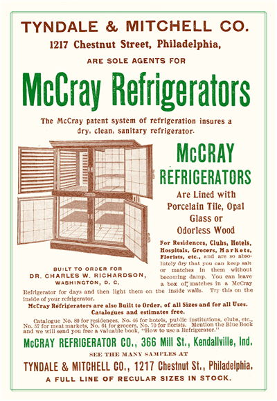 Picture Of Advertisement For The Mccray Refrigerator Company 1905