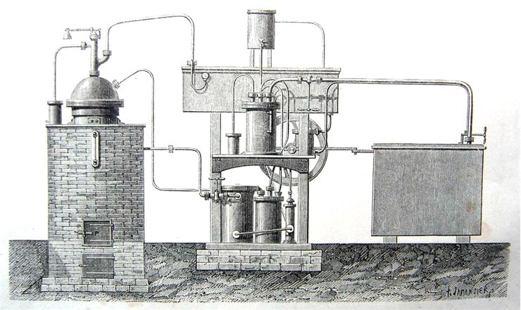 Picture Of Device Of Ferdinand Carre For Making Ice