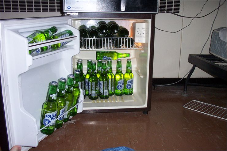 Picture Of Fridge And Drinks