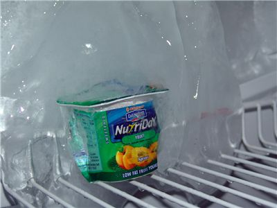 Picture Of Ice In Fridge