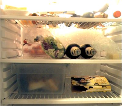 Picture Of Open Refrigerator With Food