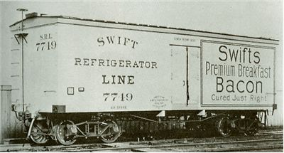 Picture Of Refrigerator Car By Swift Refrigerator Line In 1899